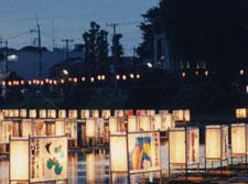古利根川流灯まつり